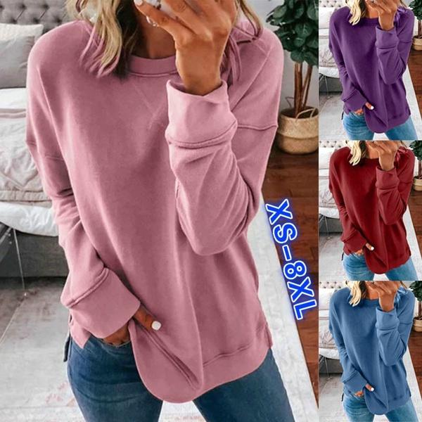 Plus Size, Cotton T Shirt, Long Sleeve, Shirt