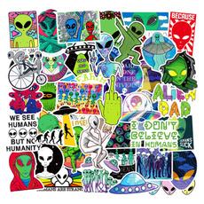 scootersticker, Car Sticker, alien, ufo