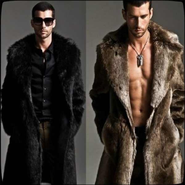 fur coat, Medium, fur, menslongjacket