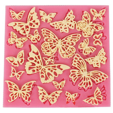 butterfly, Flowers, Lace, Silicone