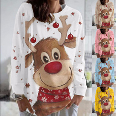 cute, Plus Size, Pullovers, Christmas