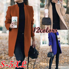 Casual Jackets, Plus Size, Winter, wool coat