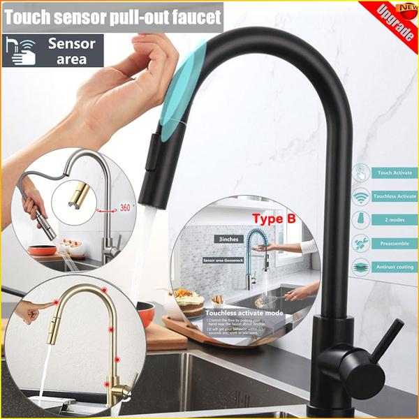 Mixers, Kitchen & Dining, brushednickelkitchenfaucet, touchsensorfaucet