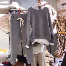 Fashion, casualtracksuit, loose sweater, joggersuit