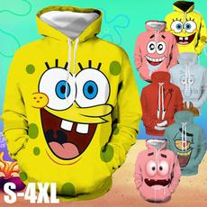 3D hoodies, Plus Size, Sponge Bob, unisex