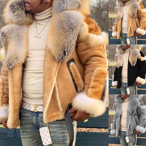 motorcyclecoat, fur coat, Fashion, fur