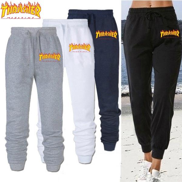 Fashion, thrasher, sweatpantsforwomenmen, pants