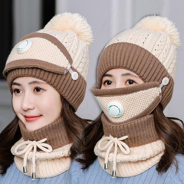 woolen, winter hats for women, Fashion, fur