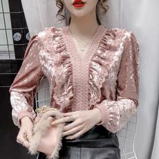 blouse, Fashion, velvet, Lace