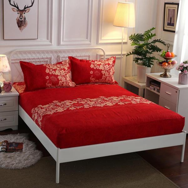 Flowers, Elastic, Bedding, Cover