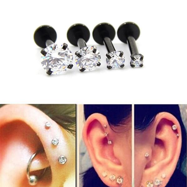 Steel, Crystal, Jewelry, Earring