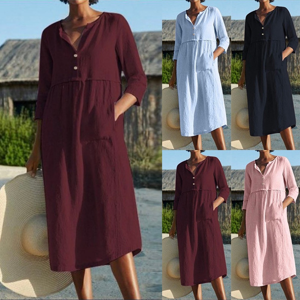 Plus Size, short dress, Sleeve, Elegant