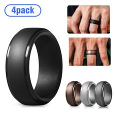 Fashion, wedding ring, Silicone, Durable