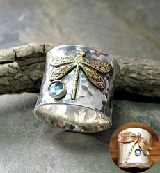 Sterling, dragon fly, Jewelry, Gifts