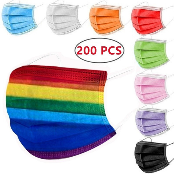 rainbow, mouthmask, disposablefacemask, rainbowdisposablemask