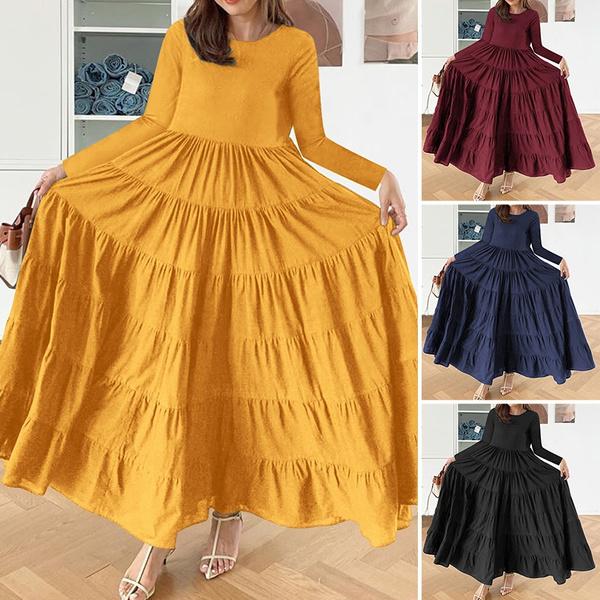 Elegant, dressesforwomen, pleated dress, Women