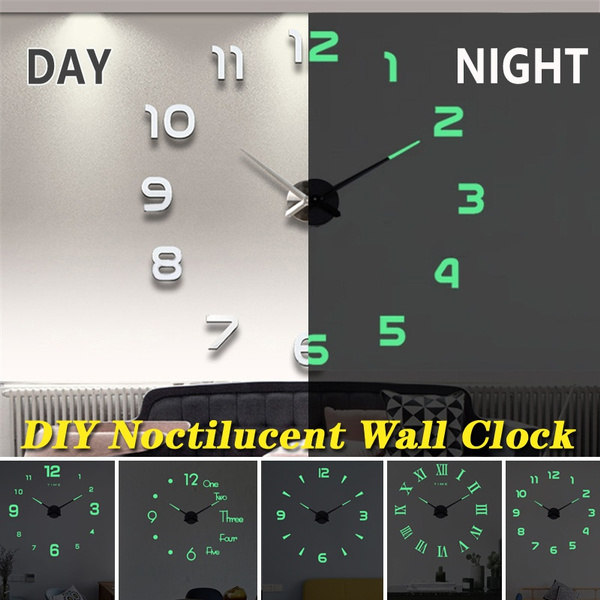 wallstickersampmural, Clock, lights, Stickers