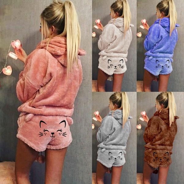 cute, Plus Size, Winter, sleepwearset