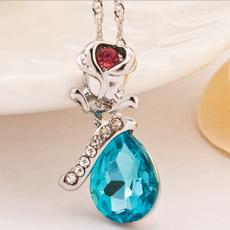 Necklace, Flowers, Jewelry, Angel