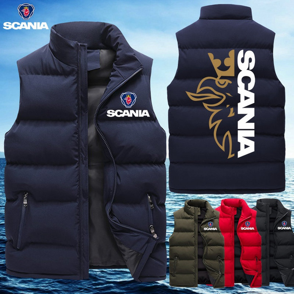 Stand Collar, Vest, menzipperjacket, Coat