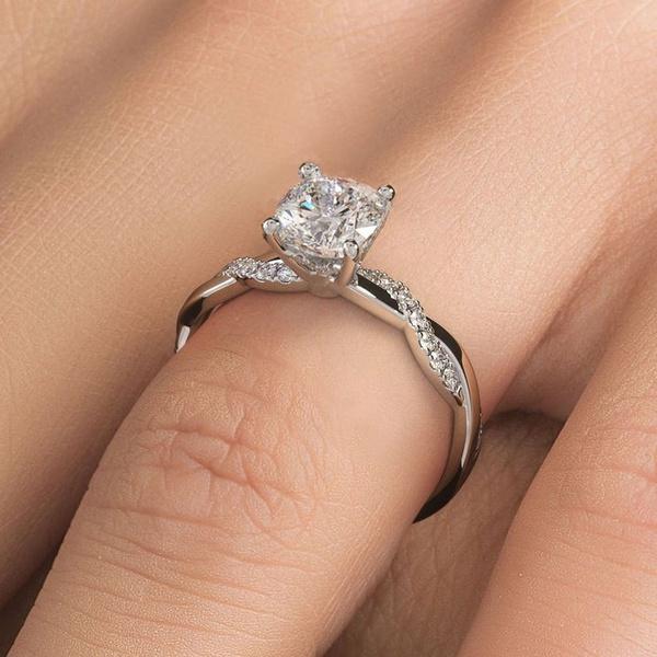 Beautiful, DIAMOND, Princess, wedding ring