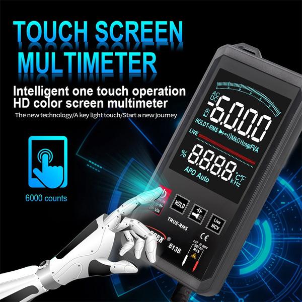 Touch Screen, amperemeter, digitalmultimeter, Multimeter