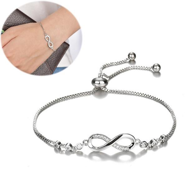 Charm Bracelet, Sterling, braceletfemme, Infinity