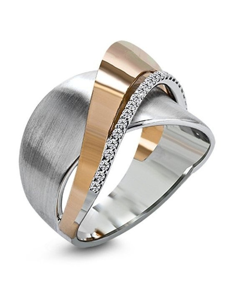Sterling, wedding ring, 925 silver rings, gold