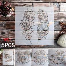 stencil, art, mandalastencil, wallpainting
