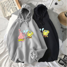 Couple Hoodies, Plus Size, Sponge Bob, unisex