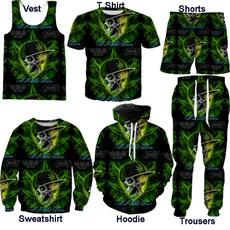 Vest, Shorts, leaf, skull