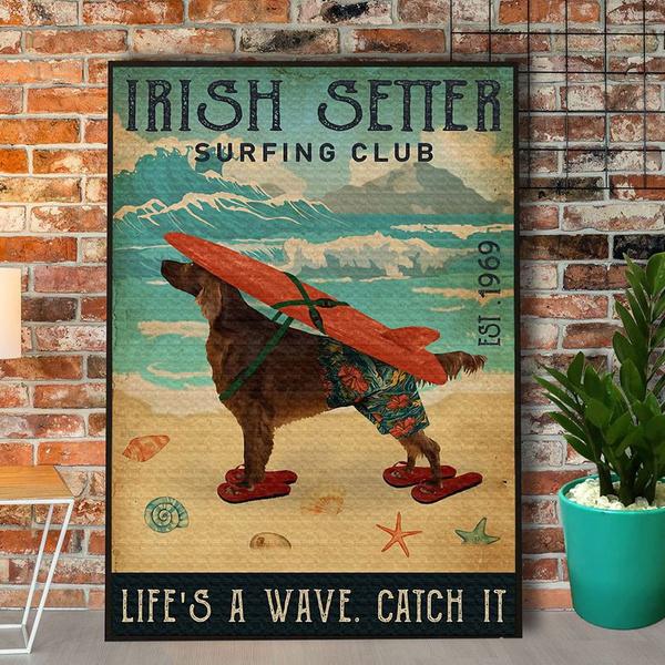 Summer, Irish, Surfing, Home Decor