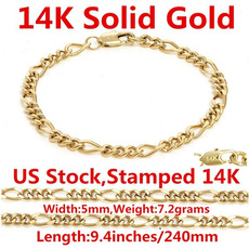 yellow gold, gold, chianbracelet, Womens Jewelry
