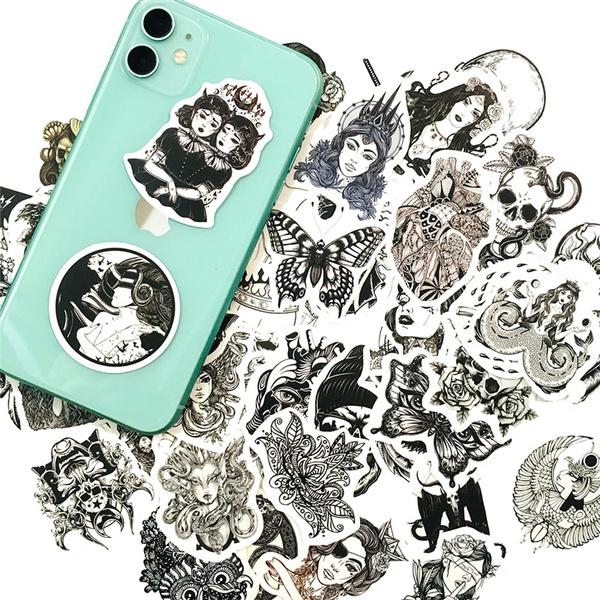 Car Sticker, Goth, skullsticker, Stickers