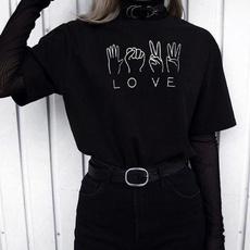 Korea fashion, Funny T Shirt, Love, gifttshirt