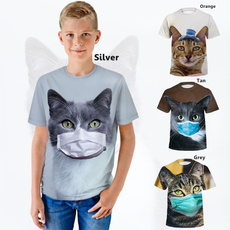 Boy, animal print, Summer, graphic tee
