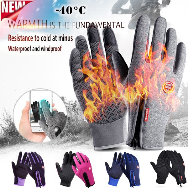 Winter Cycling Gloves With Wrist Support Touch Screen Bicycle Gloves Outdoor
