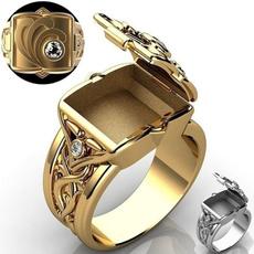 DIAMOND, gold, 18k gold ring, Halloween