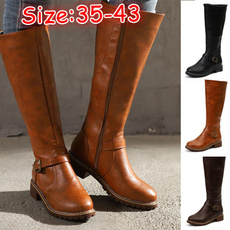 Plus Size, Leather Boots, knightboot, long boots