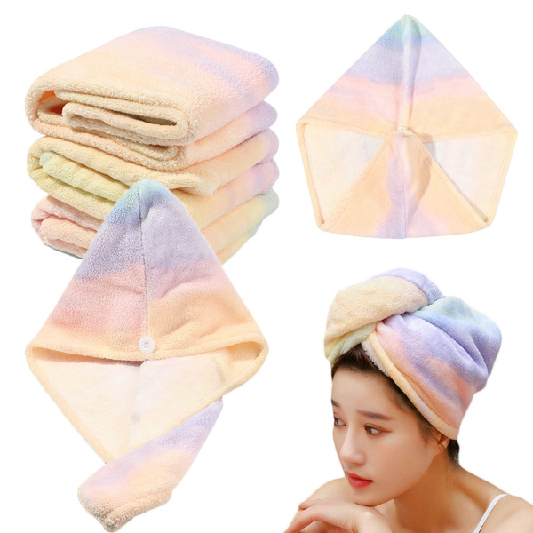 Water Absorbing Hair Drying Towel Shower Cap Dry Hair Turban Hair Dry Hat