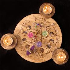 Candleholders, wicca, Wooden, woodencandleholder