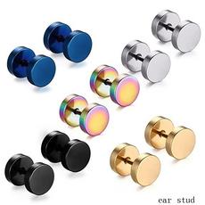 Steel, Black Earrings, Goth, Men Earrings