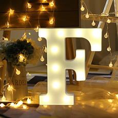 decoration, alphabetlight, ledweddinglight, Christmas