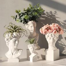 Head, flowervase, Ornament, Floreros