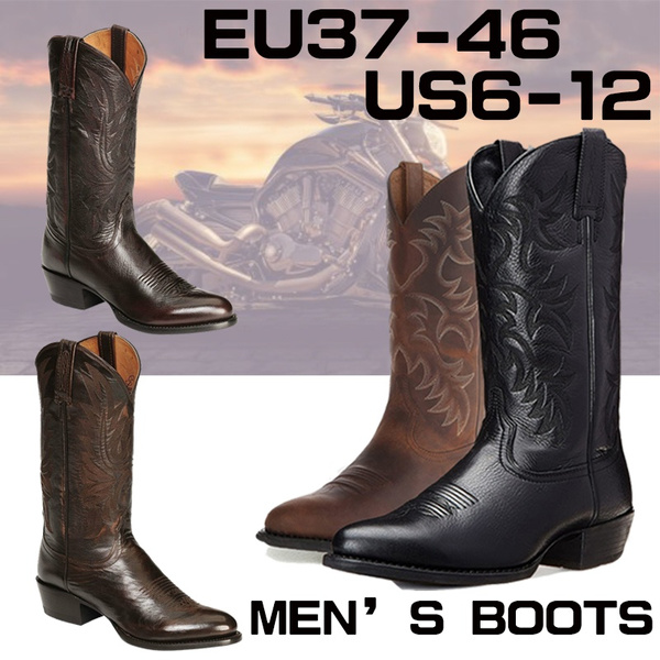 Fashion, Leather Boots, Cowboy, Boots