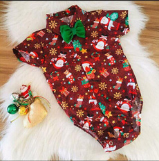 Shorts, Christmas, Sleeve, Rompers
