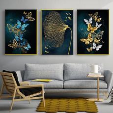 butterflyprint, Blues, Decor, Wall Art