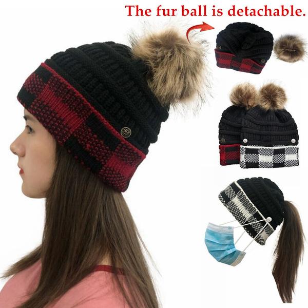 knitted, Beanie, Fashion, fur