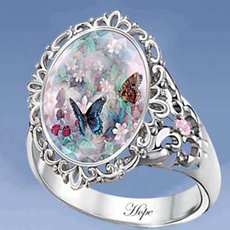 butterfly, Sterling, woman fashion, DIAMOND