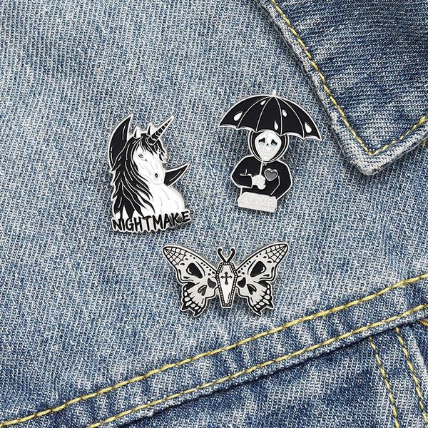 butterfly, halloweenlapelpin, Goth, gothicenamelpin